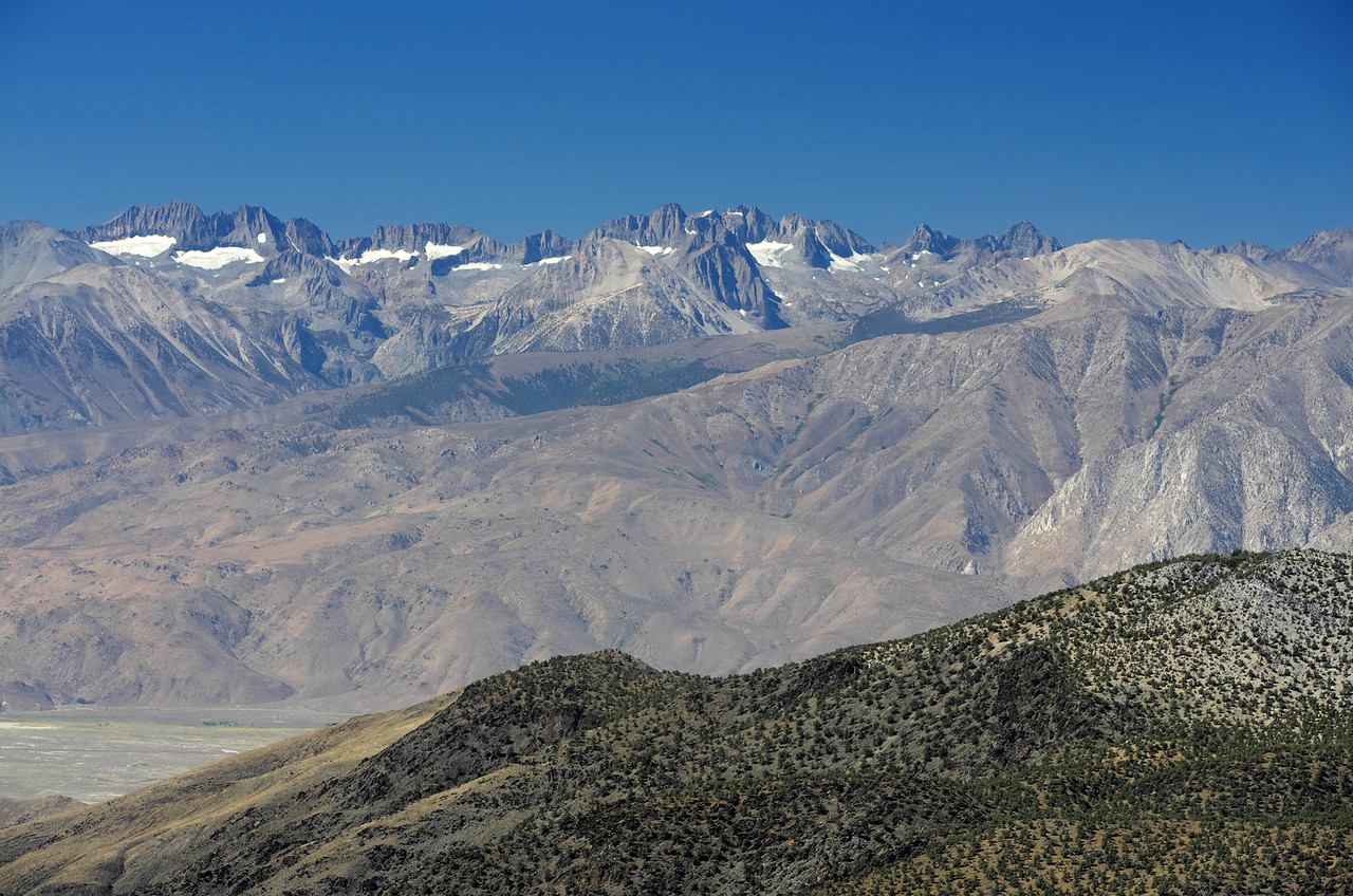 The Palisades from the Sierra View Point Vista.
