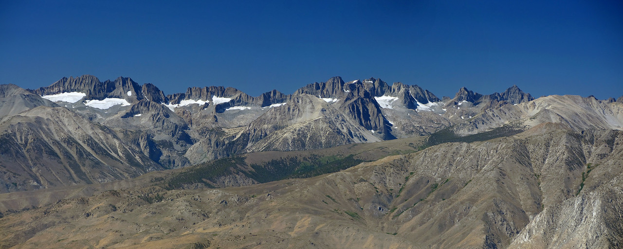 Panoramic view of the Palisades from the Sierra View Point Vista.