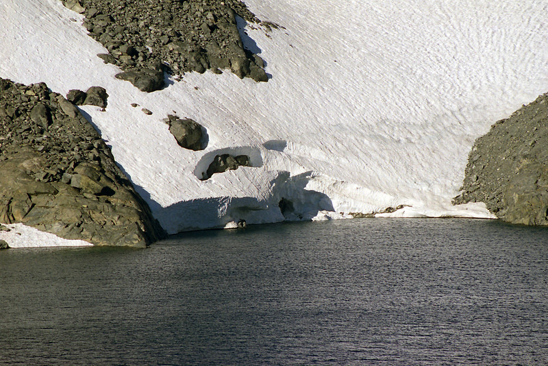 Where the Glacier meets Lake Catherine