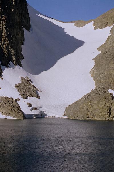The Glacier between Mt Ritter and Banner Peak