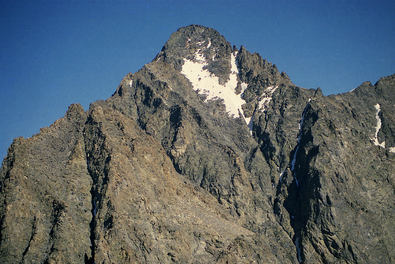 Looking up towards the top of Mt Ritter
