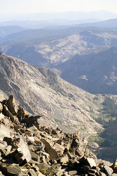 Looking down on the North fork of the San Joaquin River