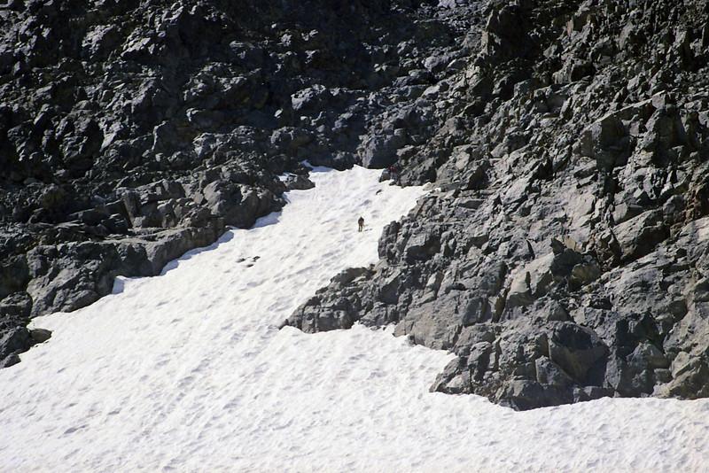 Two Climbers climbing Mt Ritter