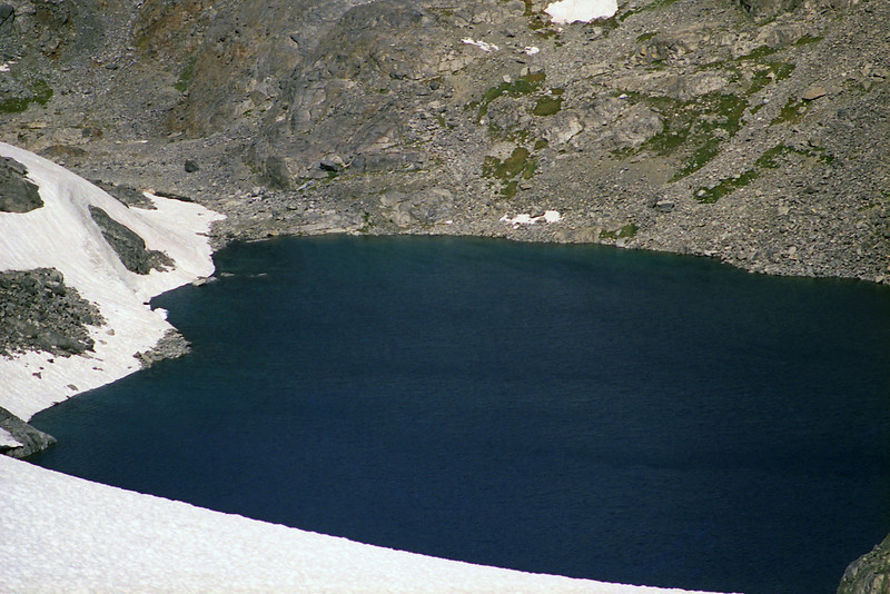 A close-up of Lake Catherine from near the bottom of the Glacier