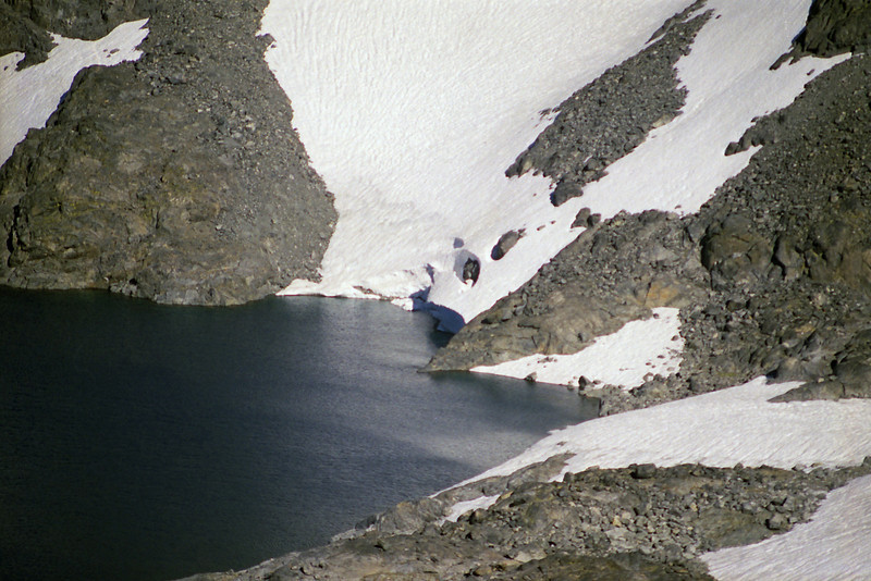A view of the Glacier feeding into Lake Catherine