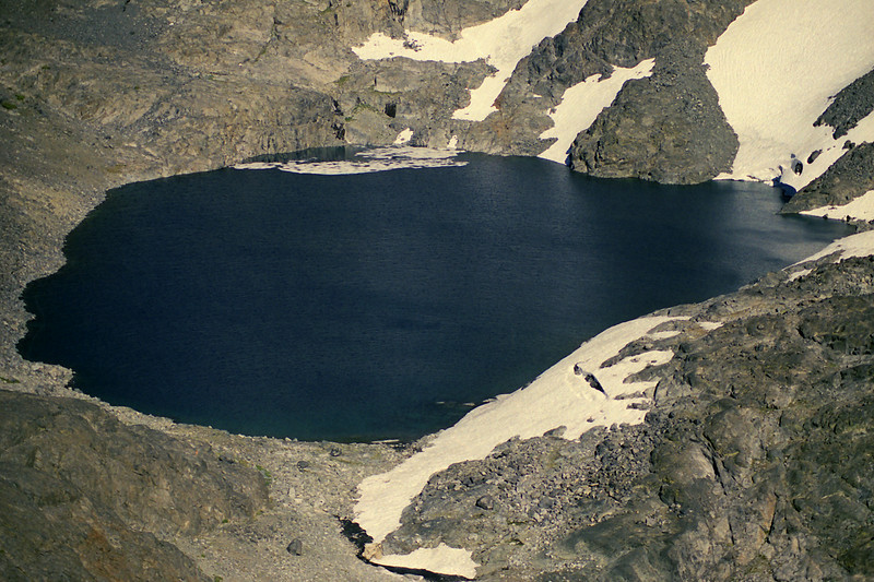 A close up of Lake Catherine