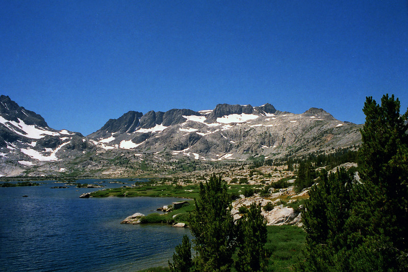 Looking at the Ritter Range from Thousand Island Lake.