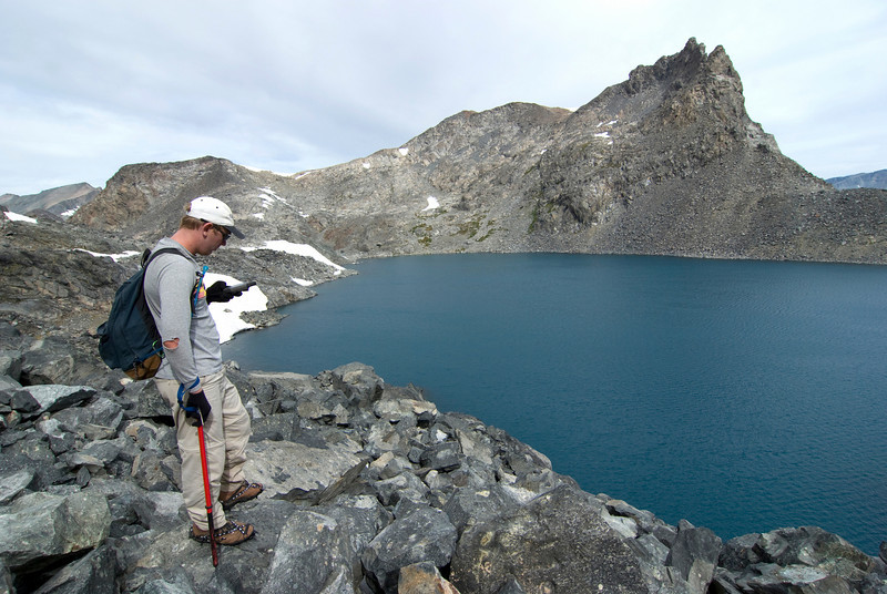 Ben Checking his GPS on his and Davids Climb to the Summit of Banner Peak