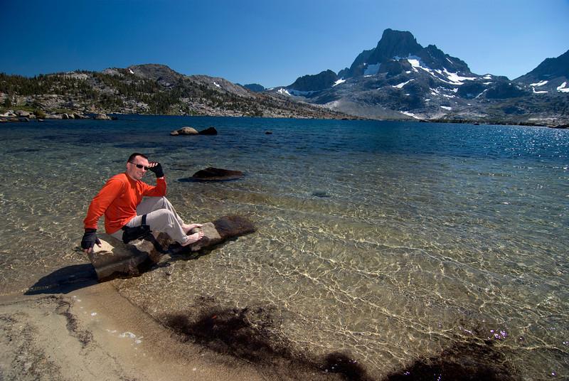 David Relaxes at Thousand Island Lake