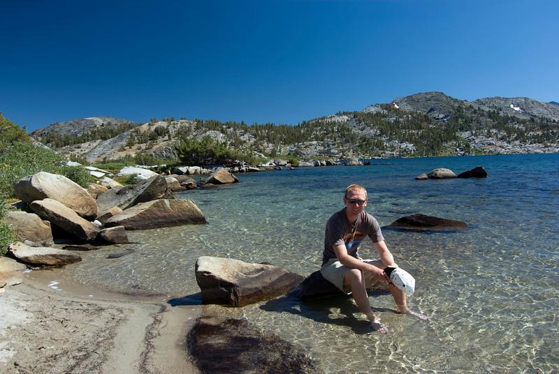 Ben Relaxes at Thousand Island Lake