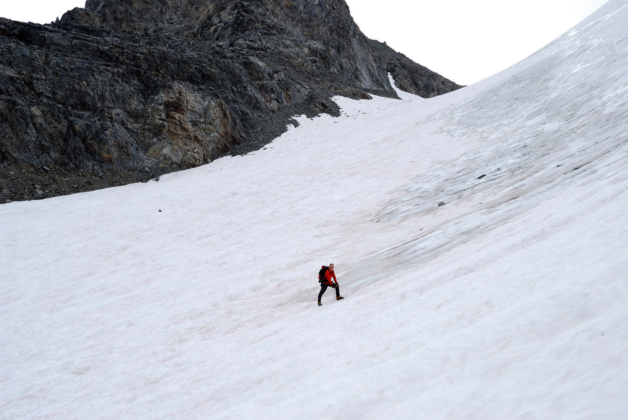 David on the Glacier,  Picture By Ben Zastovnick