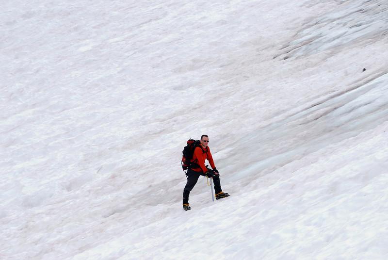 David on the Glacier Close-Up,  Picture By Ben Zastovnick