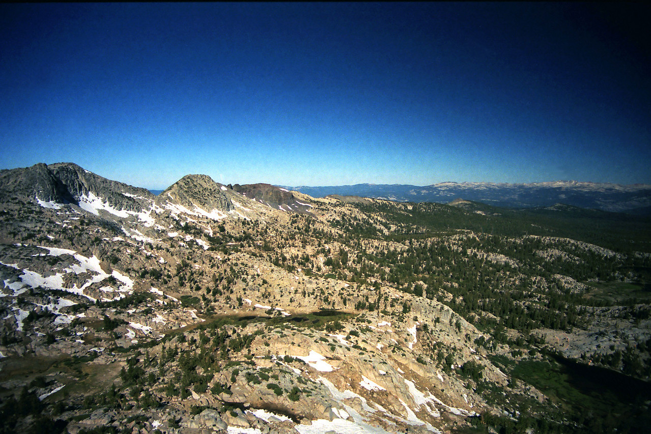 Looking NW from the cone-shaped peak along Silver Divide