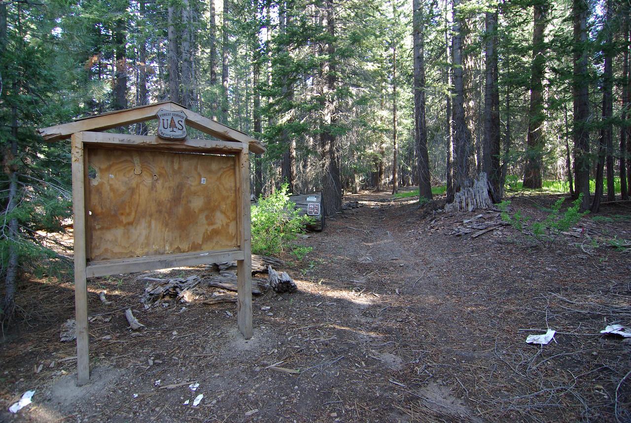 Trail Head, Onion Springs 8100ft