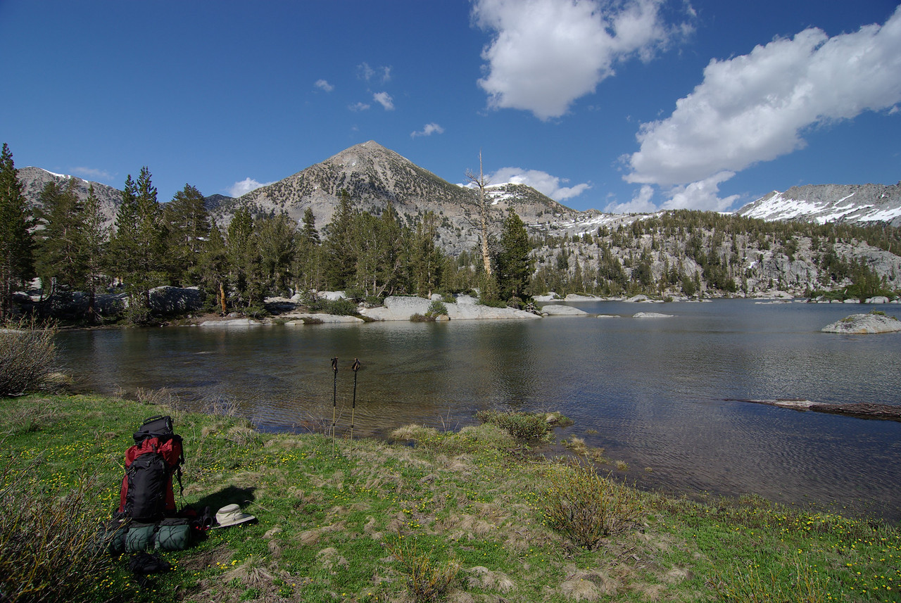 Resting near the NW side of Big Margaret Lake