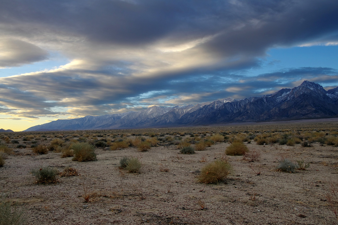 3-Layer HDR; Mt Williamson and the Eastern Sierras from the city of Independence about 15 miles north of Lone Pine.