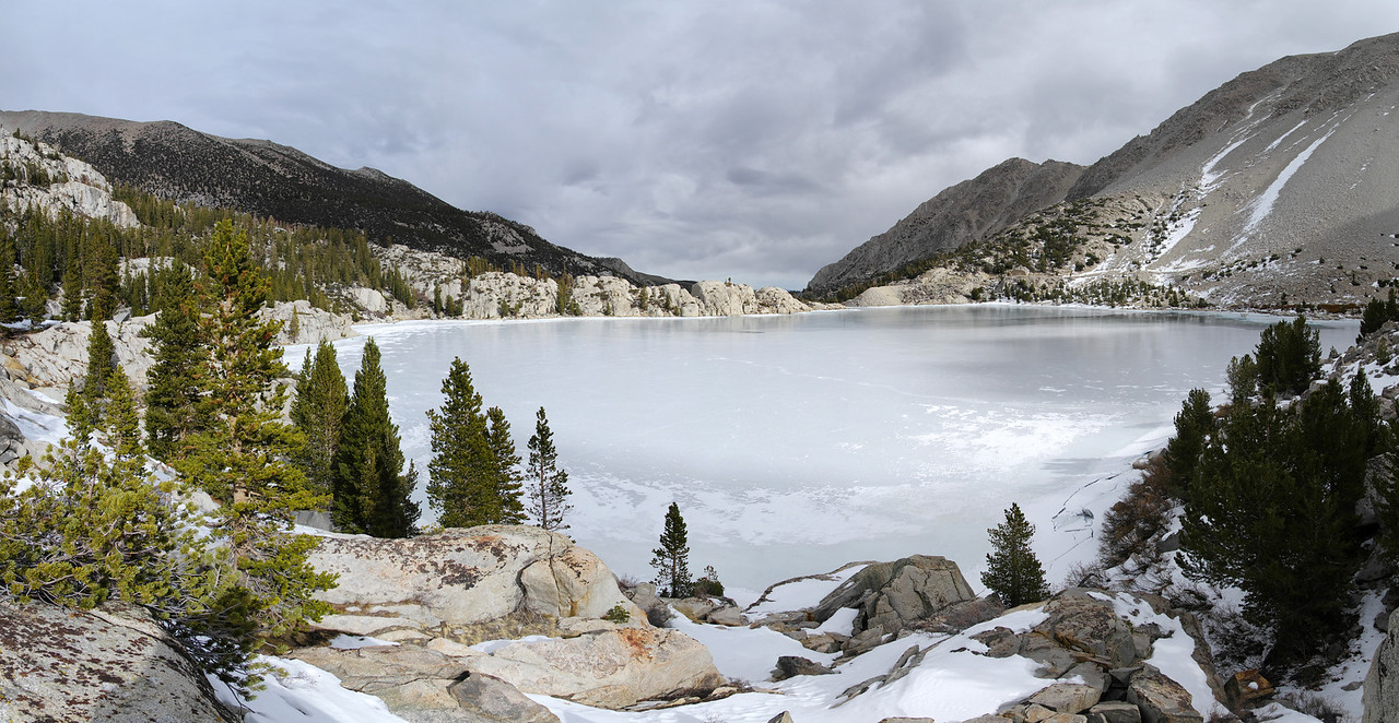 Panoramic view overlooking the Second Big Pine Lake looking S/E/E.