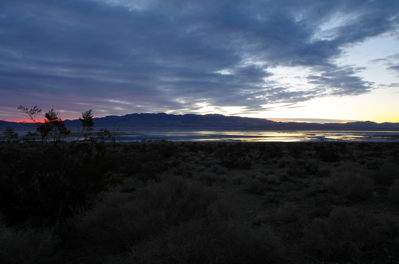 Owens Lake from 395 North, just before Sunrise.