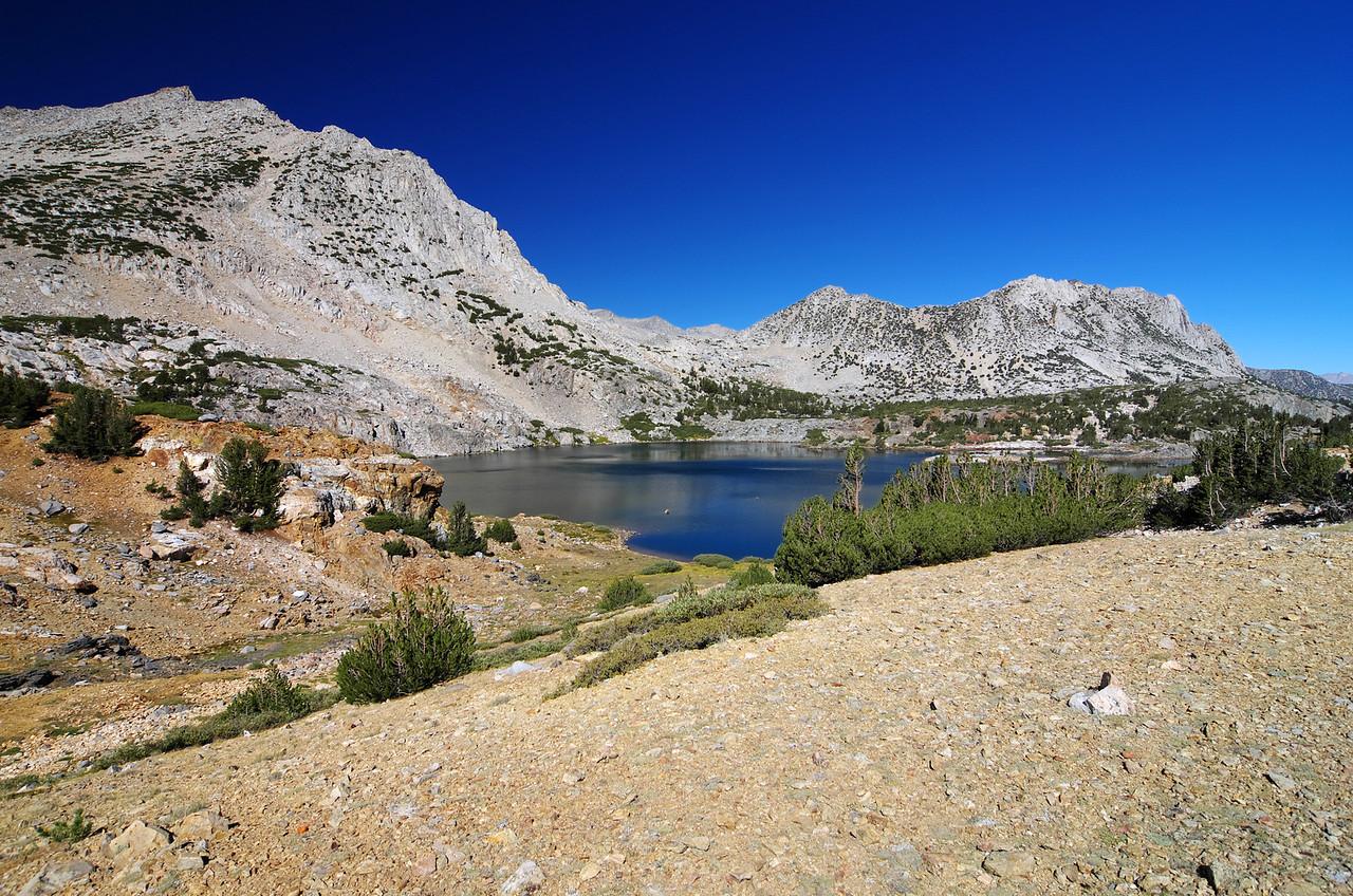 Leaving Saddlerock Lake and heading up the trail towards Bishop Lake and Bishop Pass.