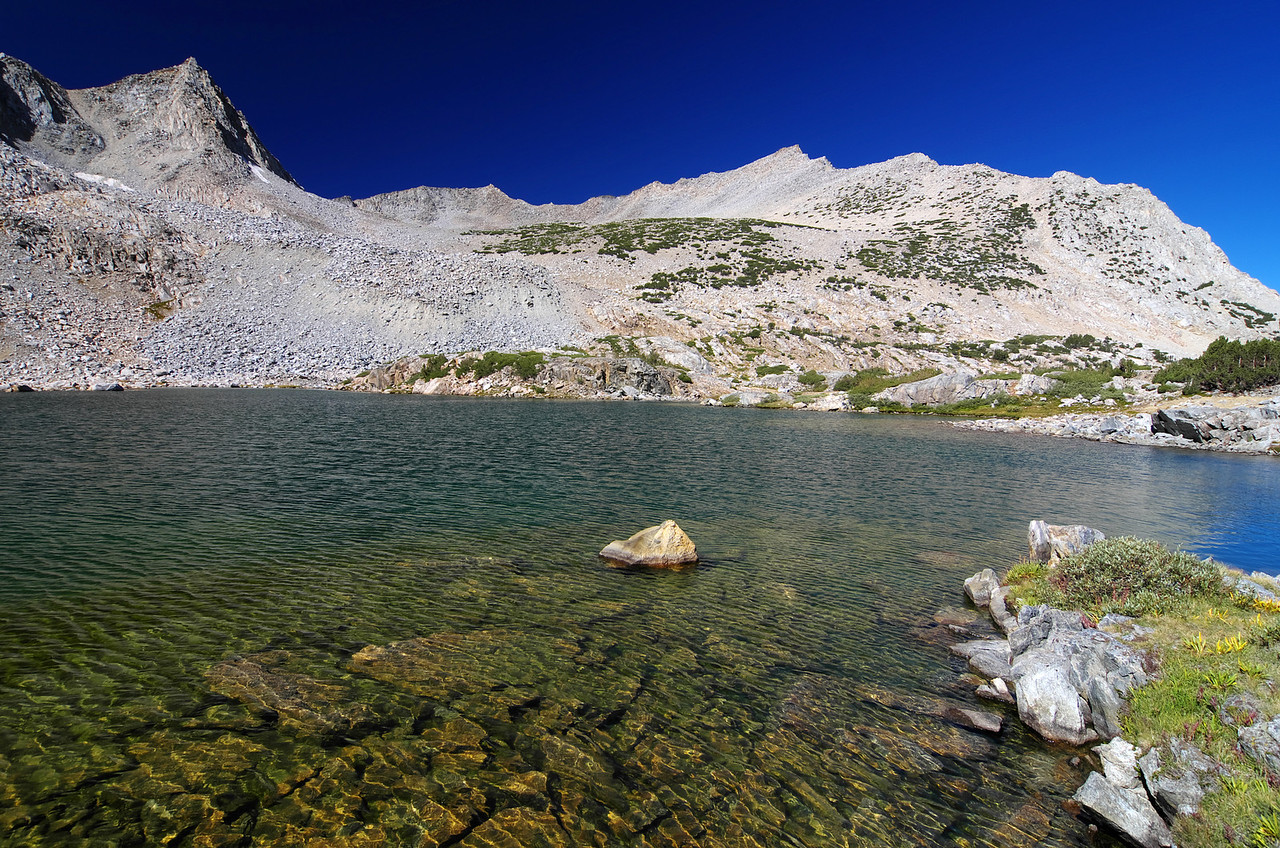 Bishop Lake and Mount Goode in the upper left of this photo.