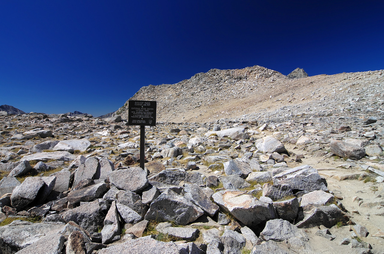 Bishop Pass and the Kings Canyon National Park entrance info.