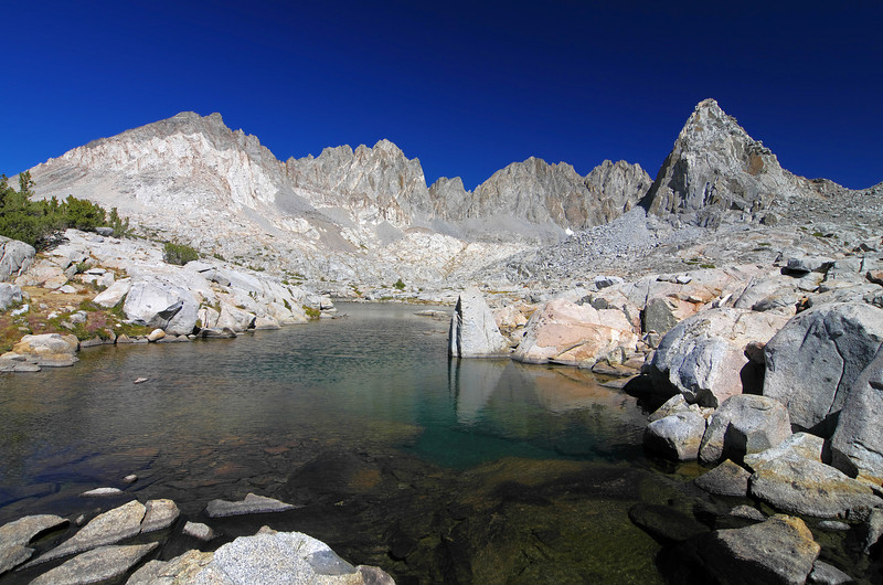 The Dusy Basin is one of the nicer areas to go backpacking, especially when it's greener on a year with a heavier snowpack.