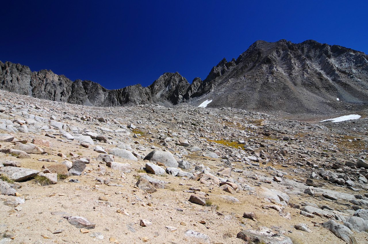 A last look back at Bishop Pass before Ben and I descend into the Dusy Basin in search of some nice lakes.