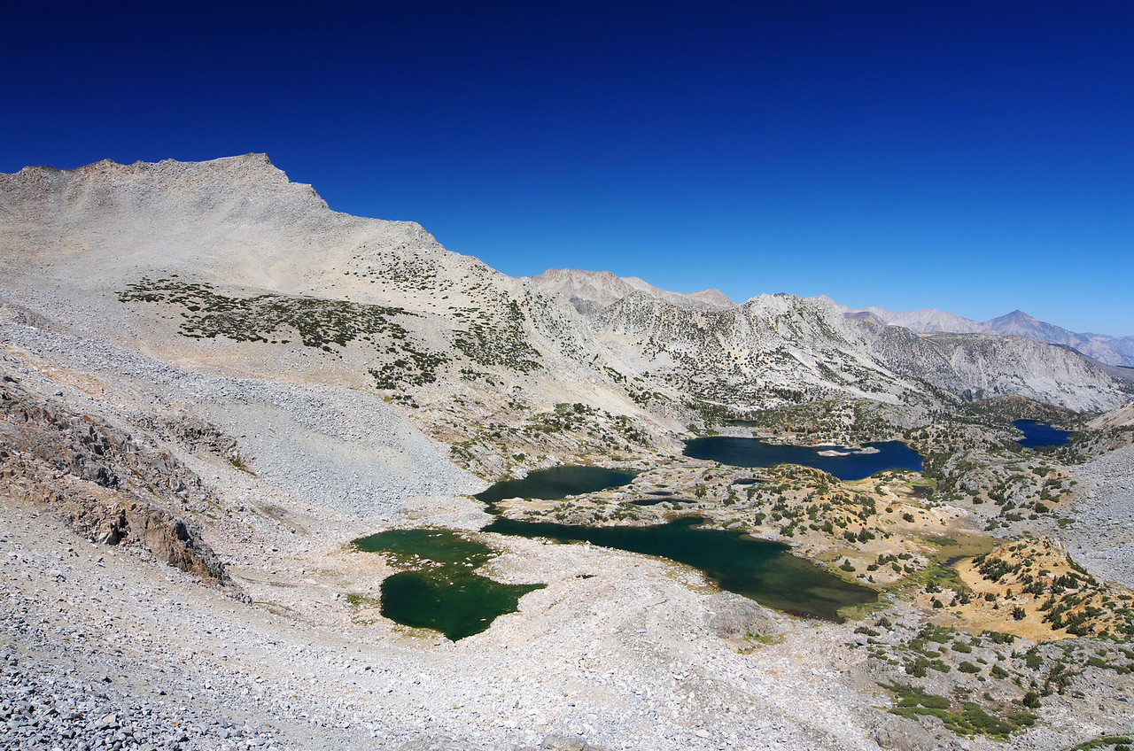 First view from the top of Bishop Pass.