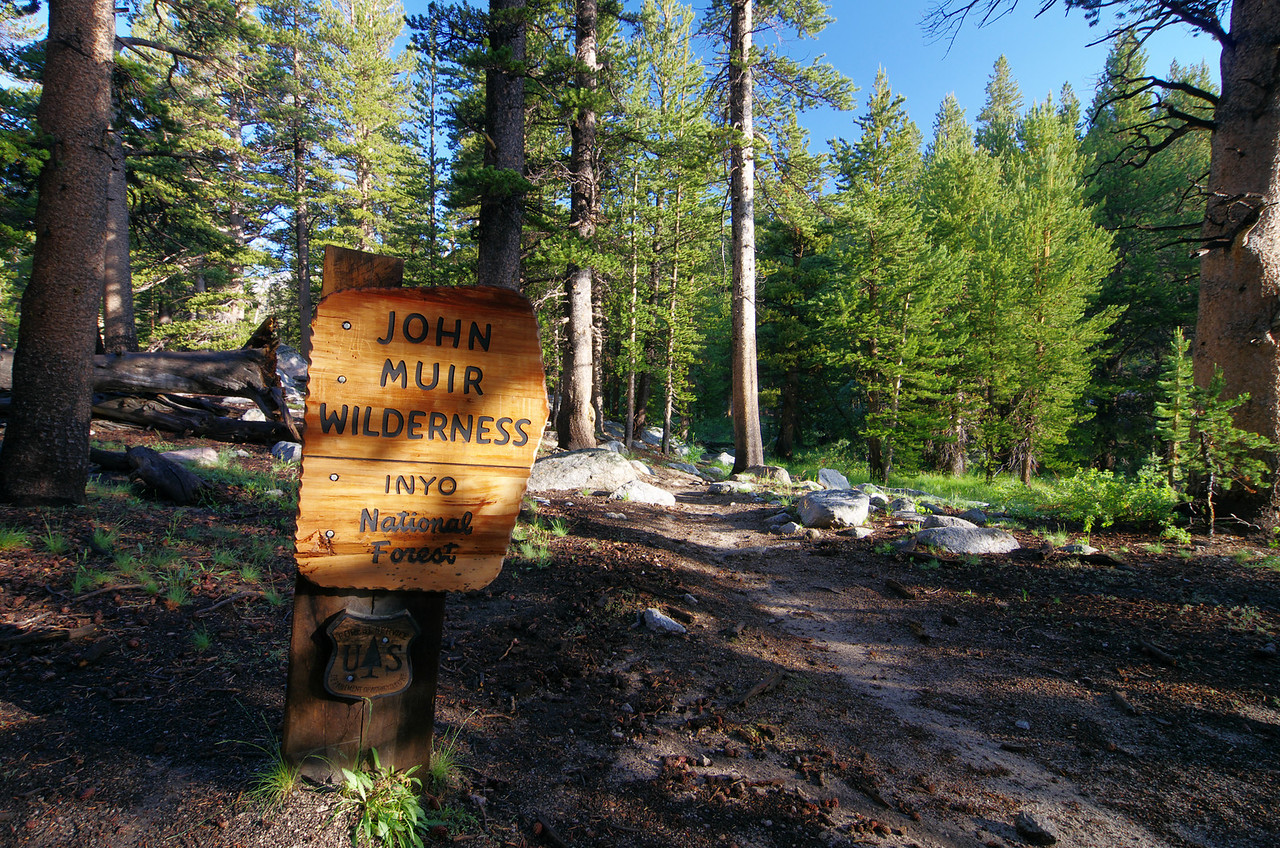 Entering John Muir Wilderness.