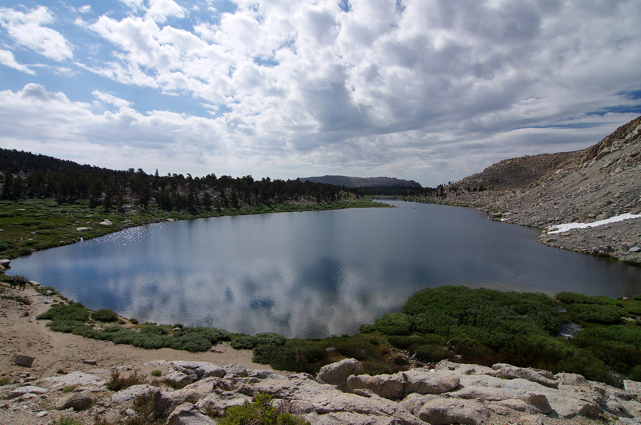 Looking down and South onto Cottonwood Lake #3-speculatively speaking.