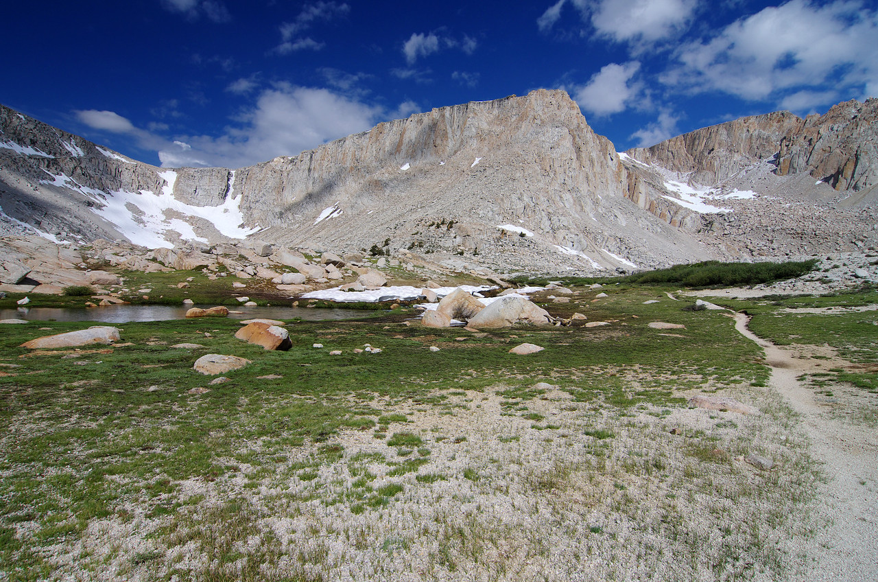 The trail heads towards Cottonwood Lake #4 and Army Pass