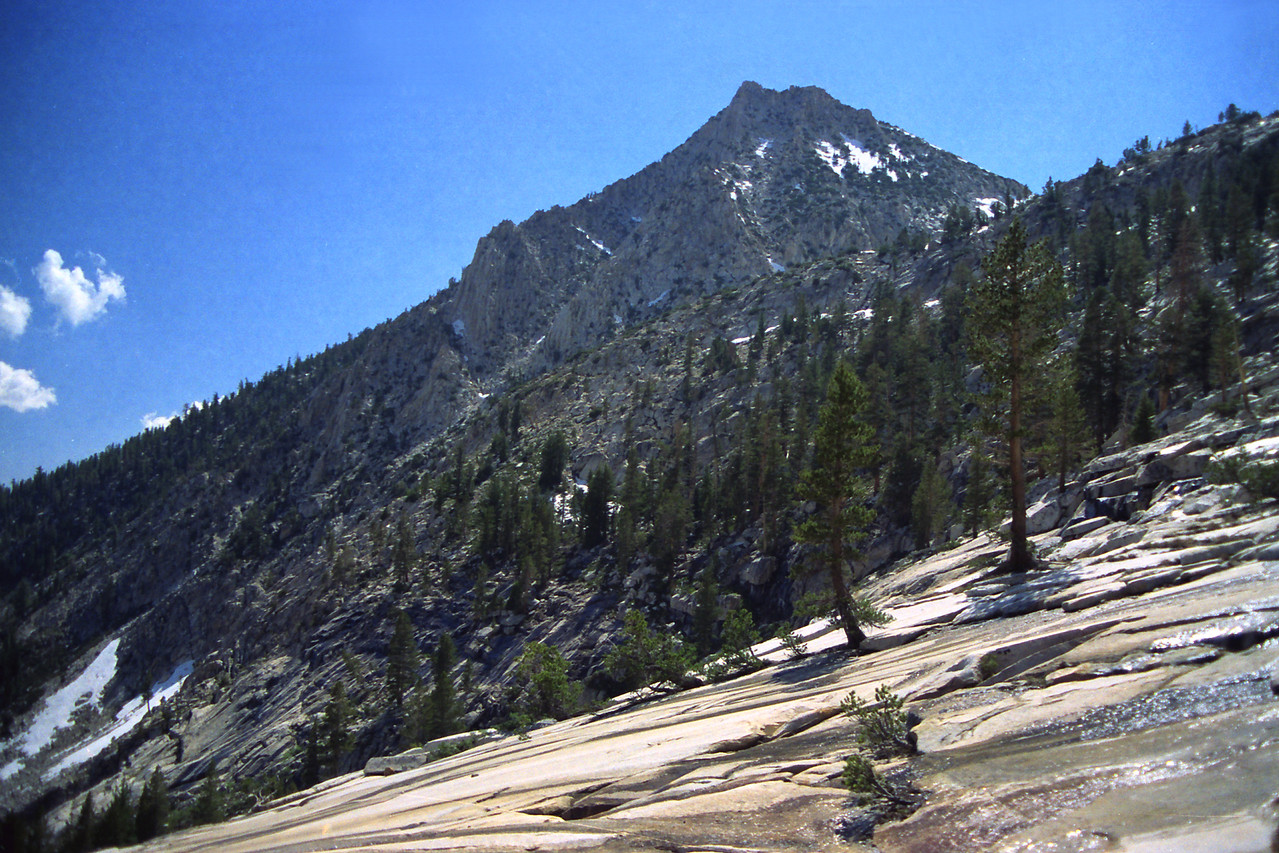 The large peak on the Map where it says, Sierra National Forest