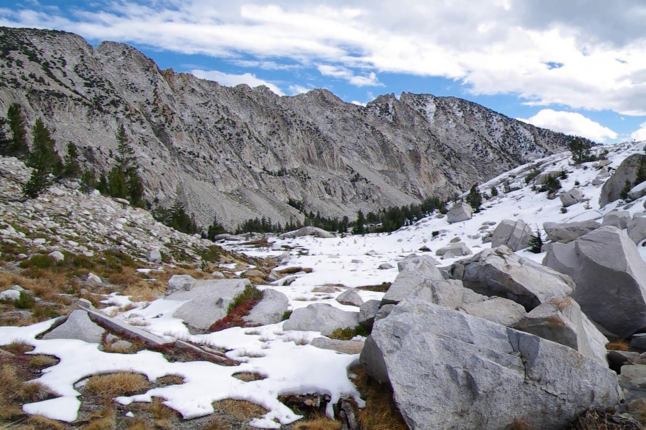 Video of area above Devils Bathtub Lake, about 10,250ft