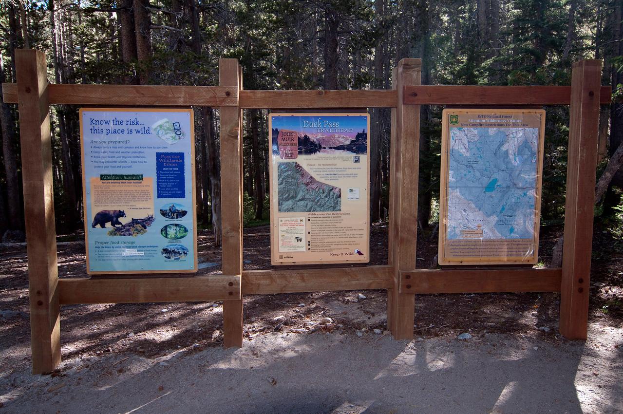 Duck Pass Trailhead Info.