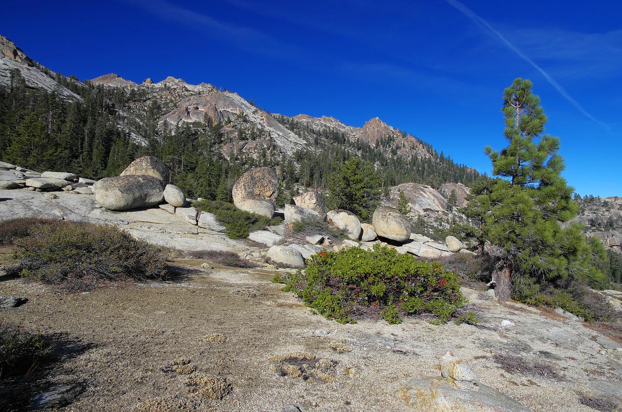 Chiquito Ridge and Shuteye Pass and Shuteye Peak.