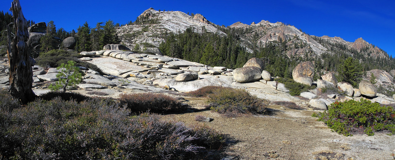 Chiquito Ridge and Shuteye Pass and Shuteye Peak panorama.