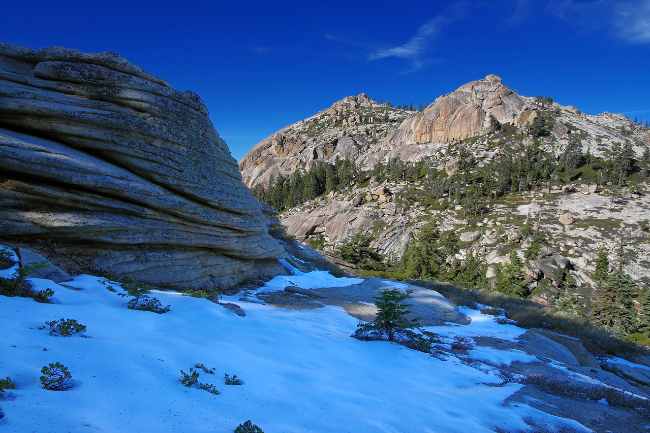 2-Layer HDR; ascending the ridge towards Eagle Beak Peaks from Shuteye Pass ~7,470ft.