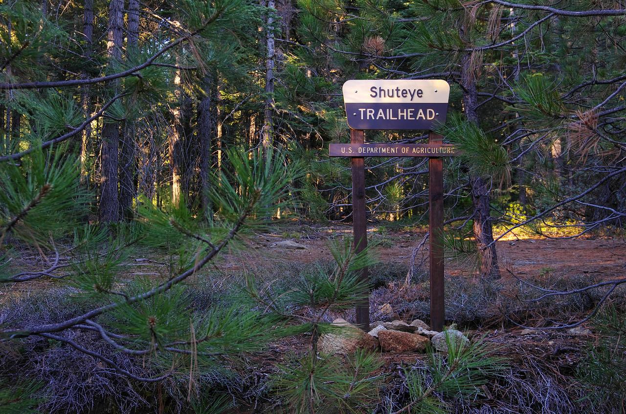 The Shutteye Pass Trailhead 5,275ft.