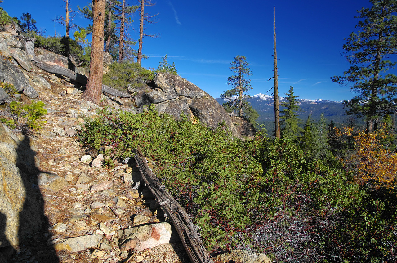 A definite trail appears above 6,000ft in elevation.