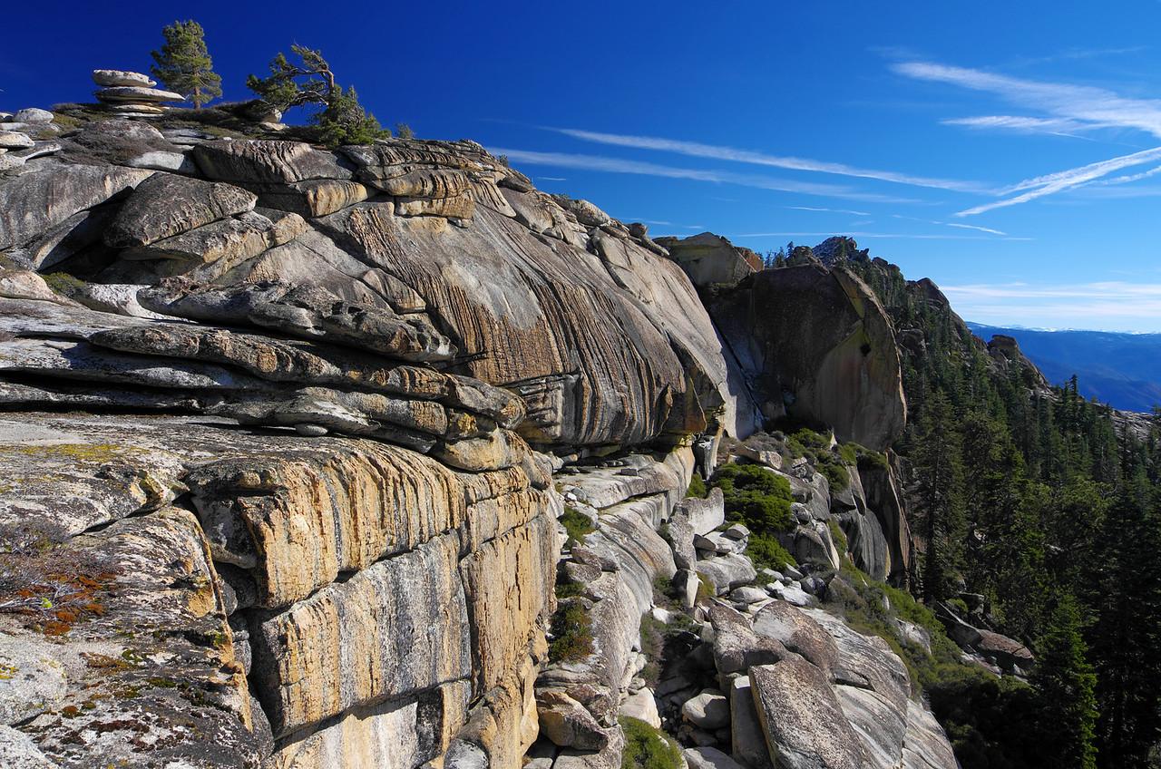 Looking east along the ridge between Eagle Beak Peaks and Shuteye Pass ~7,650ft.