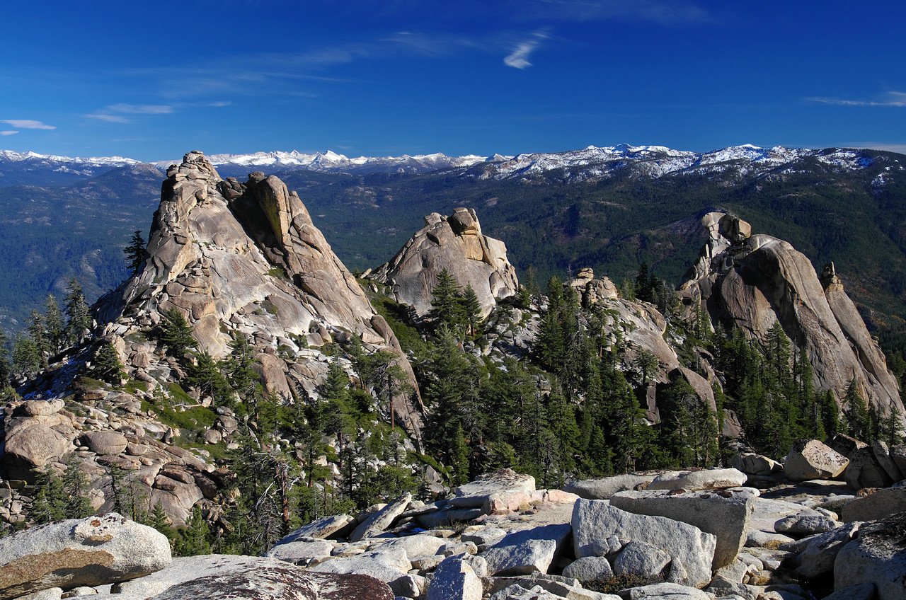 The Eagle Beak Peaks.  The one that I climbed is seen on the far right of this picture.