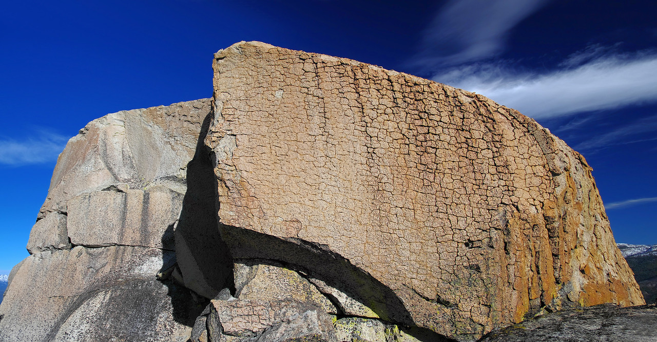 Looking up at the summit block of the lower Eagle Beak Peak~7,780ft.