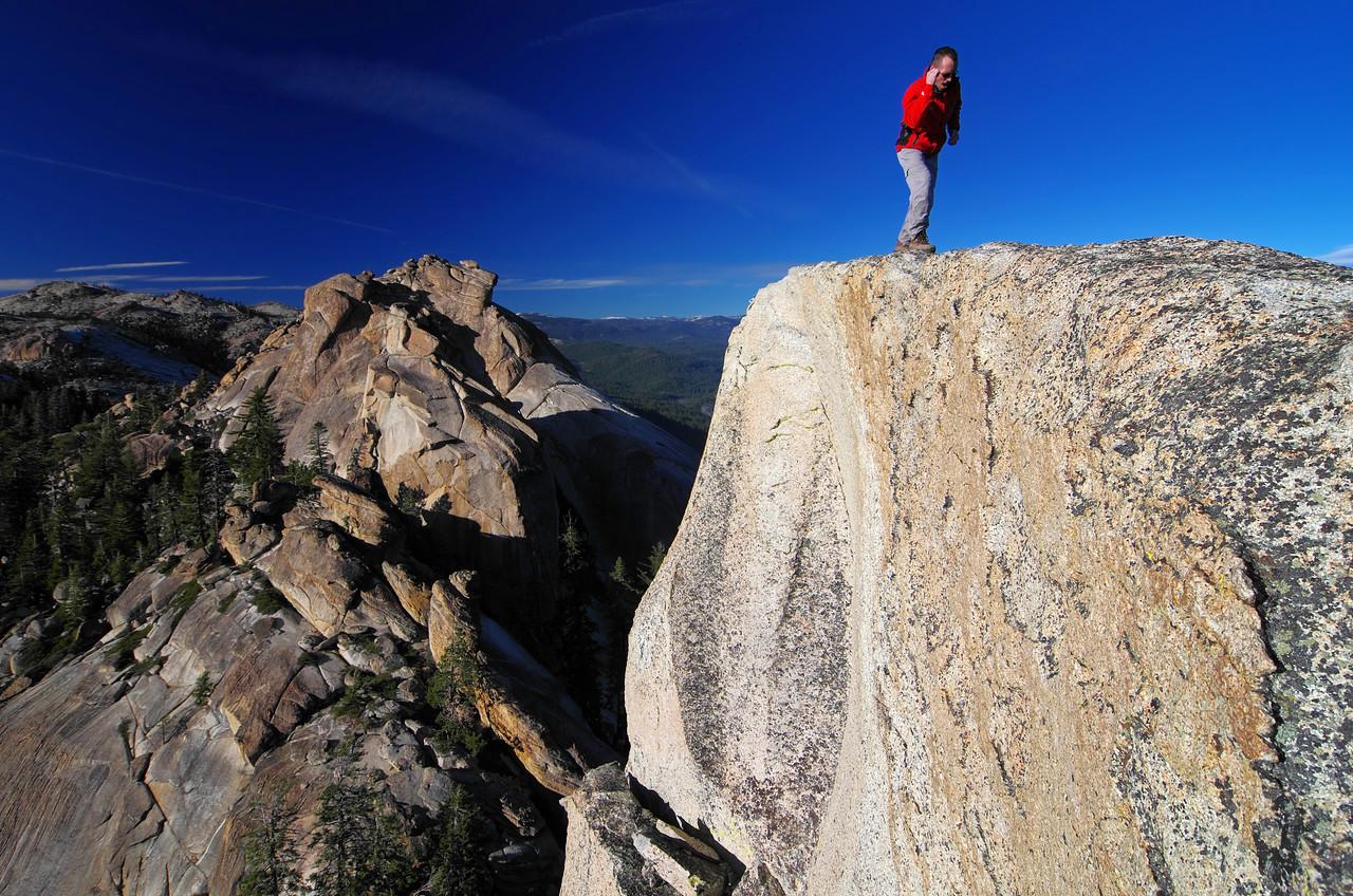 Goofing around on the summit block of the lower Eagle Beak Peak~7,815ft.