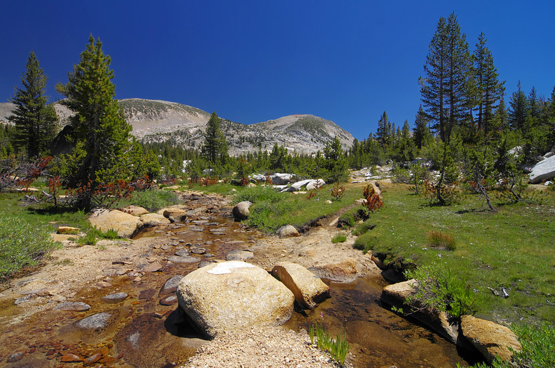 A small creek is crossed about 13.1 miles in and around 10,160ft.