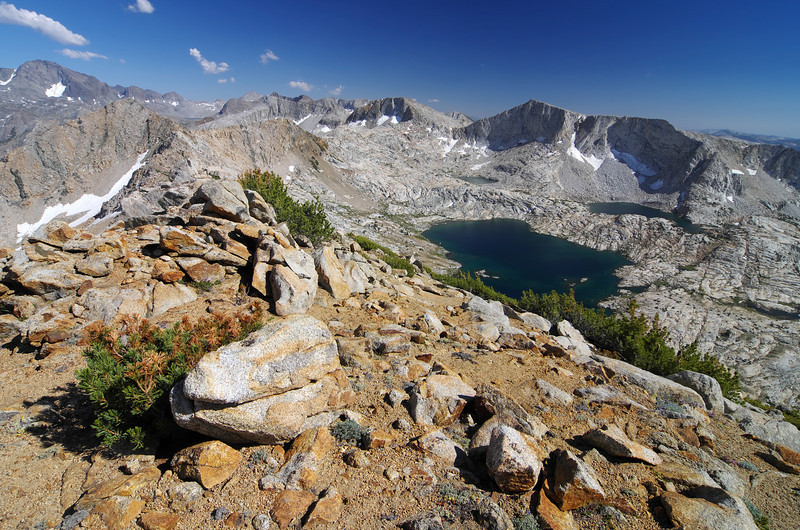A nice view of the Red Mtn Basin on my way back down the mountain staying close to the crest of the mountain.