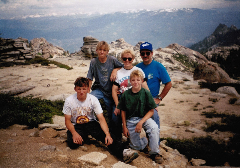 My family and I on the Shuteye OHV Jeep trail, 1995.