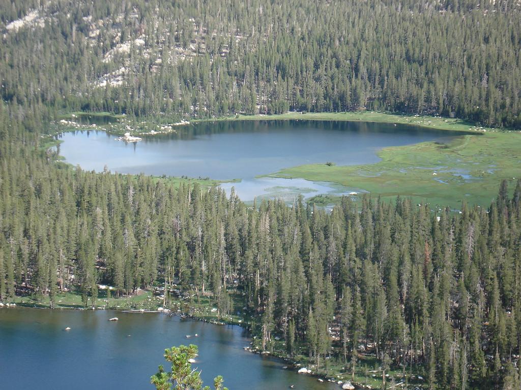 Close-Up of the 1st Dinkey Lake & South Lake