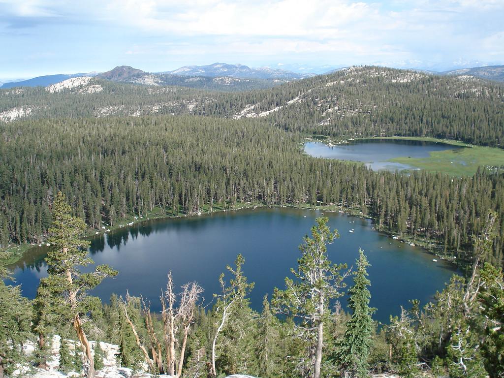 Looking Down on South Lake & the 1st Dinkey Lake