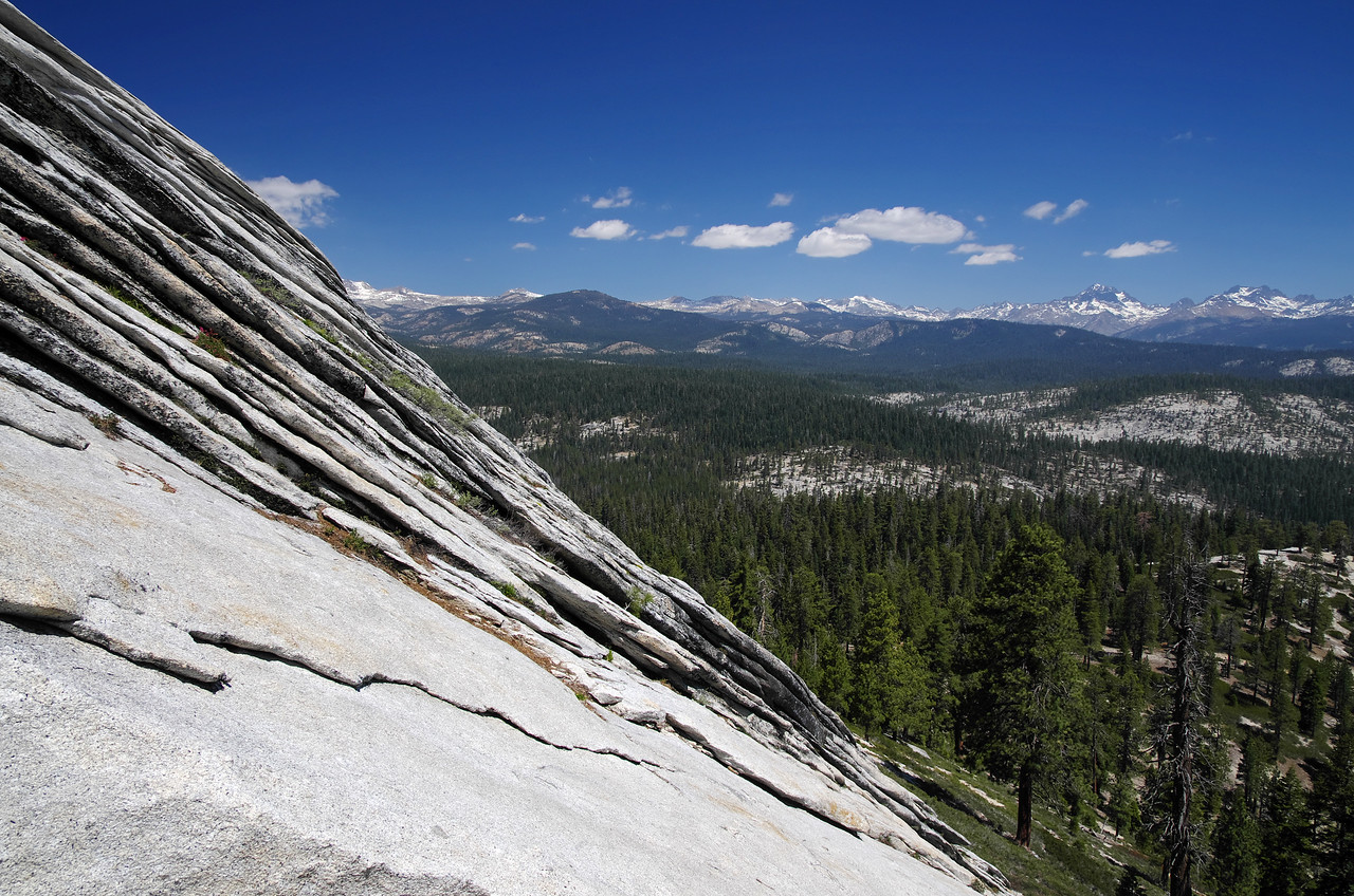Some exfoliation about 300ft below the summit of Squaw Dome on the Eastern slope.