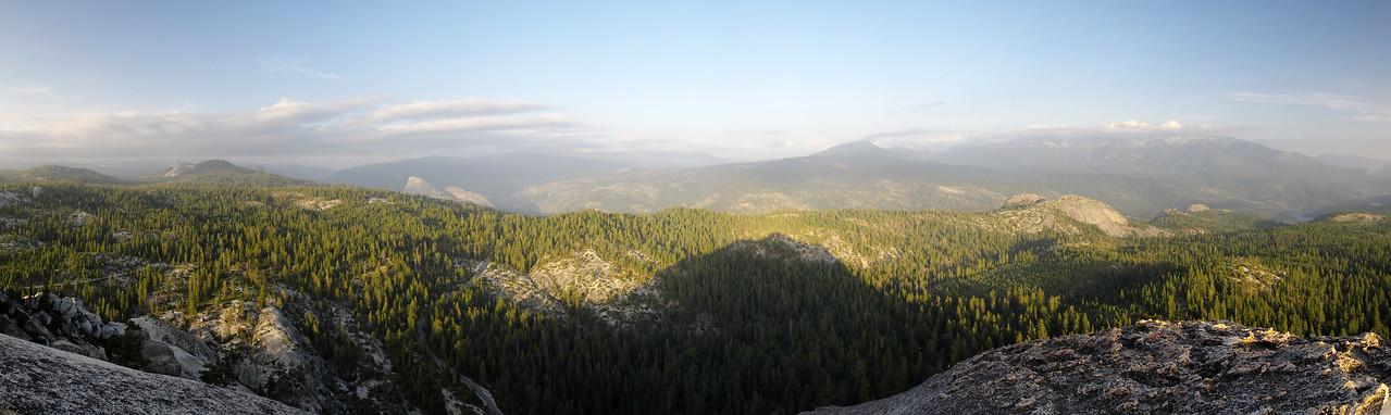 Jackass Rock Summit Panorama